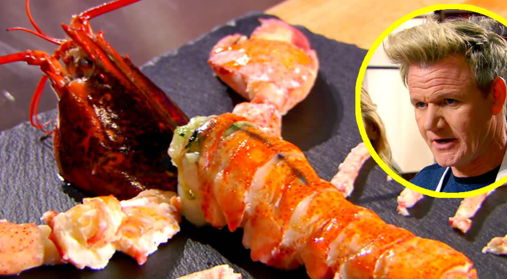 Like A Boss! Gordon Ramsay Extracts Every Ounce Of Lobster Out Of Its Shell